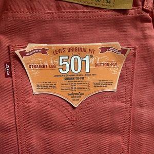 Levis 501 30 x 34 STF Raw Unwashed Denim Jeans
